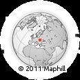 Outline Map of Lavochne, rectangular outline