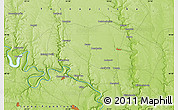 """Physical Map of the area around 48°54'57""""N,25°34'30""""E"""