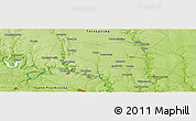 """Physical Panoramic Map of the area around 48°54'57""""N,25°34'30""""E"""