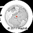 Outline Map of Brailovka, rectangular outline