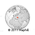 Outline Map of Buchaya, rectangular outline
