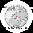 Outline Map of Zhmerynka, rectangular outline