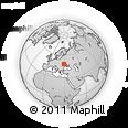 Outline Map of Voronovytsya, rectangular outline