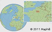 Savanna Style Location Map of Paris