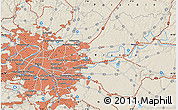 Shaded Relief Map of Paris
