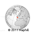Outline Map of Lannion, rectangular outline