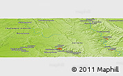 """Physical Panoramic Map of the area around 48°54'57""""N,5°10'30""""E"""