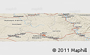"""Shaded Relief Panoramic Map of the area around 48°54'57""""N,5°10'30""""E"""