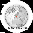 Outline Map of Folschviller, rectangular outline
