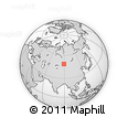 Outline Map of Altai Mountains, rectangular outline