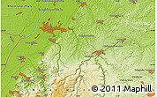 """Physical Map of the area around 48°54'57""""N,8°34'29""""E"""