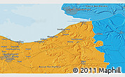 Political 3D Map of Le Havre