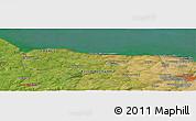 Satellite Panoramic Map of Caen