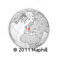 """Outline Map of the Area around 49° 19' 21"""" N, 10° 16' 30"""" E, rectangular outline"""