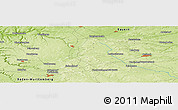 """Physical Panoramic Map of the area around 49°19'21""""N,10°16'30""""E"""