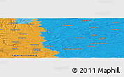 """Political Panoramic Map of the area around 49°19'21""""N,10°16'30""""E"""