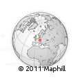 """Outline Map of the Area around 49° 19' 21"""" N, 11° 58' 29"""" E, rectangular outline"""