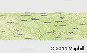 """Physical Panoramic Map of the area around 49°19'21""""N,11°58'29""""E"""