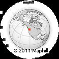 Outline Map of Hope, rectangular outline
