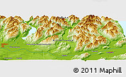 "Physical Panoramic Map of the area around 49° 19' 21"" N, 122° 19' 29"" W"