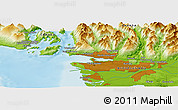 "Physical Panoramic Map of the area around 49° 19' 21"" N, 123° 10' 30"" W"
