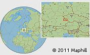 Savanna Style Location Map of Kout na Šumavě