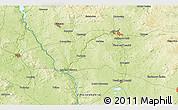 Physical 3D Map of Milevsko