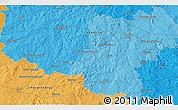 Political 3D Map of Pelhřimov