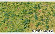 Satellite 3D Map of Pelhřimov