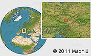 Satellite Location Map of Pelhřimov