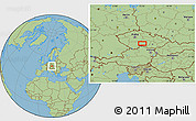 Savanna Style Location Map of Pelhřimov