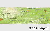 """Physical Panoramic Map of the area around 49°19'21""""N,17°4'30""""E"""