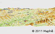 Physical Panoramic Map of Horná Tižina