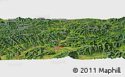 "Satellite Panoramic Map of the area around 49° 19' 21"" N, 18° 46' 29"" E"