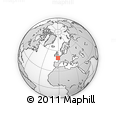 """Outline Map of the Area around 49° 19' 21"""" N, 1° 37' 30"""" W, rectangular outline"""