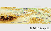 """Physical Panoramic Map of the area around 49°19'21""""N,20°28'30""""E"""