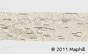 "Shaded Relief Panoramic Map of the area around 49° 19' 21"" N, 21° 19' 30"" E"