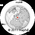 Outline Map of Wola Niżna, rectangular outline