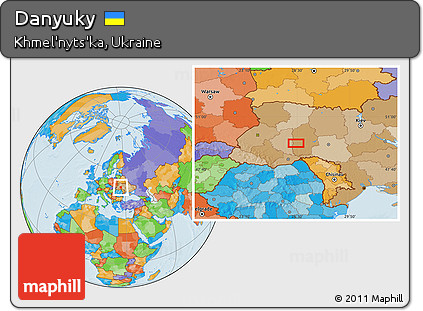 Free Political Location Map of Danyuky
