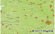 "Physical Map of the area around 49° 19' 21"" N, 28° 7' 30"" E"