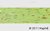 "Physical Panoramic Map of the area around 49° 19' 21"" N, 28° 7' 30"" E"