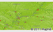 """Physical 3D Map of the area around 49°19'21""""N,2°37'30""""E"""