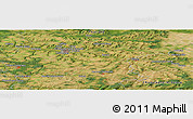 Satellite Panoramic Map of Brancourt-en-Laonnois