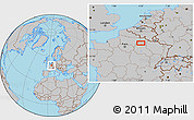 Gray Location Map of Berru