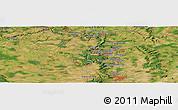 Satellite Panoramic Map of Dudelange