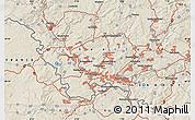 Shaded Relief Map of Saarbrücken