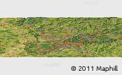 Satellite Panoramic Map of Saarbrücken