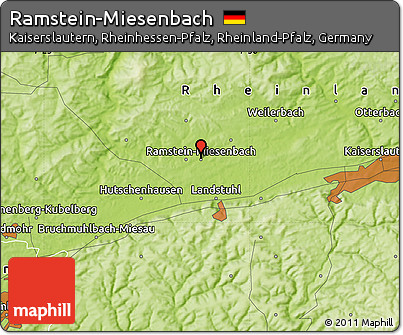Free Physical Map of Ramstein-Miesenbach