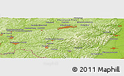 "Physical Panoramic Map of the area around 49° 19' 21"" N, 7° 43' 29"" E"