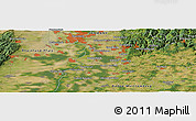 Satellite Panoramic Map of Ittlingen